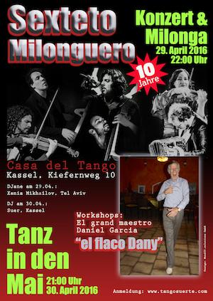 Plakat Tango Sexteto Milonguero und Flaco Dany